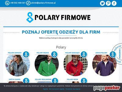 Polary reklamowe z najlepszego polaru firmy Polartec.
