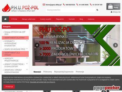 Sklep strażacki oraz hydranty ppoż