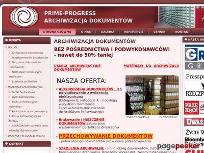 ARCHIWIZACJA DOKUMENTÓW - PRIME-PROGRESS