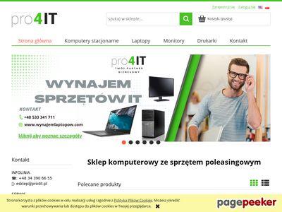 Pro4IT.pl: Twój dostawca sprzętu IT