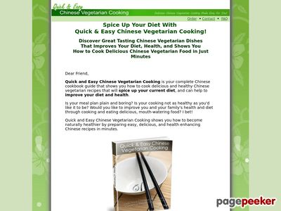 Chinese Vegetarian Cooking – Healthy, Low Fat Chinese Vegetarian Cookbook And Recipes www