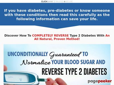 """REVERSE DIABETES TODAY"" - Your Diabetes Cure - Official Website 1"