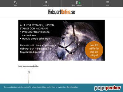Ridsport Online - Ridsportbutik - ridkläder & hästutrustning - http://www.ridsportonline.se