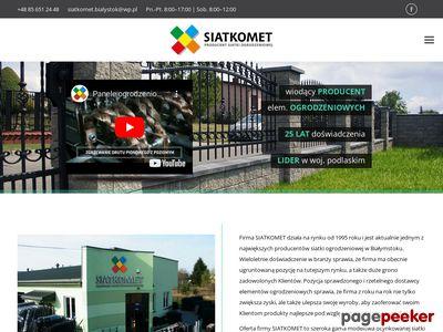 SIATKOMET siatka hodowlana Białystok