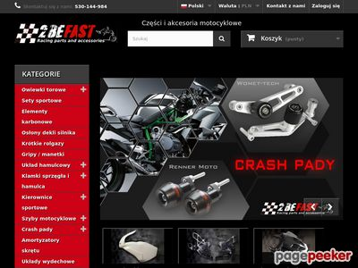 2BeFast - crash pady i szyby motocyklowe