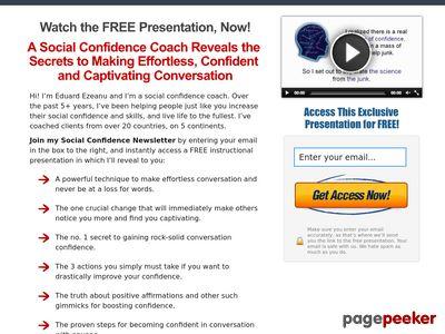 Conversation Confidence | Social Confidence Secrets 1