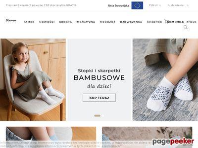 Skarpety bawełniane - www.steven.pl