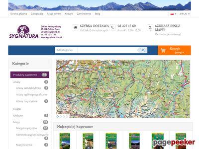 Www.sygnatura.com.pl - mapa Tatr