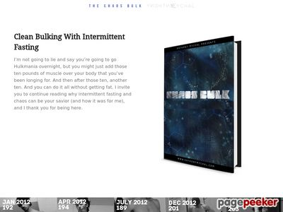 The Chaos Bulk and Intermittent Fasting by Anthony Mychal 2