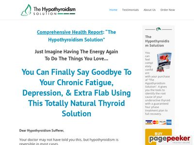www.thehypothyroidismsolution Homepage - The Hypothyroidism Solution
