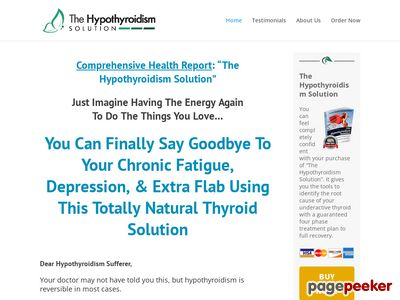 Homepage - The Hypothyroidism Solution 1