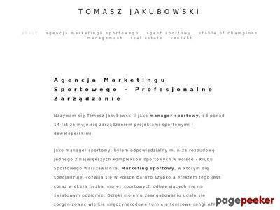 Manager Tomasz Jakubowski