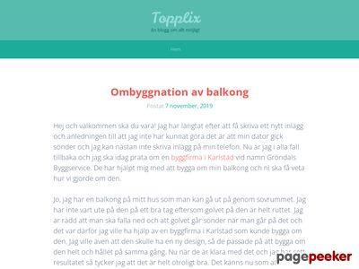 Topplix Network l�nkkatalog f�r toppl�nkar - http://www.topplix.se