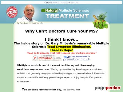 Multiple Sclerosis MS Treatment eBook Cure By Dr. Gary M. Levin www