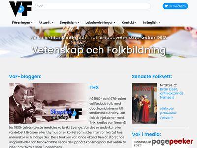 Föreningen Vetenskap och Folkbildning - http://www.vof.se