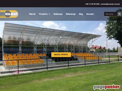 Producent trybun, kratownica - www.wamat.com.pl