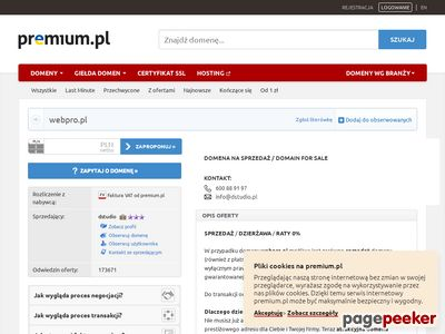 Projektowanie i tworzenie internetowych stron WWW - 'Webpro' Sp. z o.o.