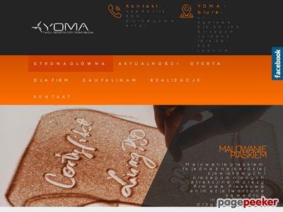 Malowanie piaskiem - yoma-art.pl