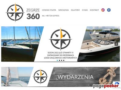 Zegrze360 - czarter jachtów i łodzi Zegrze