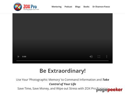 Zox Pro Training - Genius Brain Power - Learn Anything Fast At Zoxpro