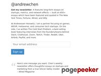 Andrewchen.co - Essays on tech, growth, and startups at andrewchen