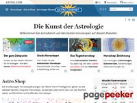 Astro.ch - Horoscope and Astrology - Homepage - Astrodienst