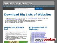 Biglistofwebsites.com - Big Lists of Website | Download Big Lists of Websites