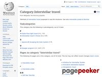 http://en.wikipedia.org/wiki/Category:Interstellar_travel