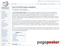 http://en.wikipedia.org/wiki/Law_of_Truly_Large_Numbers