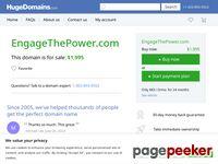 Engagethepower.com - HugeDomains.com - EngageThePower.com is for sale (Engage The Power)