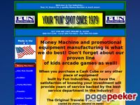 Funindustries.com - Money Machine Cash Cube Manufacturing Buy or Rent by Fun Industries