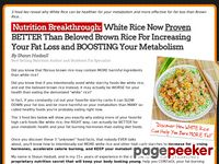 Why Eating MORE White Rice Will Increase Fat Burning – The 4 Cycle Solution