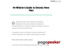 An Athlete's Guide to Chronic Knee Pain: Theories and Solutions for Patellar Tendonitis, Jumpers Knee, and Patellar Tracking Problems.