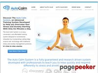 The Auto Calm System - Overcome Your Anxiety With ScienceThe Auto Calm System - Discover the Auto Calm System.  It's time to relax smarter.
