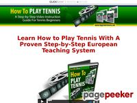 Tennis For Beginners - Learn How To Play Tennis