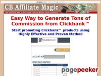 CB Affiliate Magic - Clickbank Affiliate Marketing