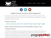 Website for Coffee Concerts Trust