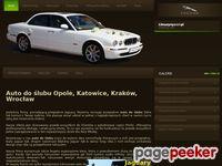 Jaguar, limuzyny do wynajęcia, auto do ślubu ,wesele, imprezy