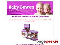 Instant Natural Colic Relief – Natural Colic Relief Baby Bowen Guide