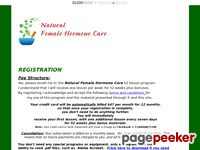 Natural Female Hormone Care - Natural Female Hormone Care Registration page