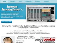Subliminal Message Recording Software – Subliminal Recording System