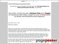 Trout Fish Bait Recipe for Homemade Fish Bait