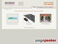 WOMAT – producent tablic reklamowych LED oraz oświetleń LED do wnętrz - start