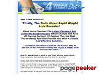 4 Week Diet - 4 Week Diet - Lose Weight Fast and Easy - Weight Loss