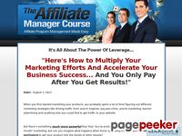 The Affiliate Manager Course - Affiliate Program Management Made Easy