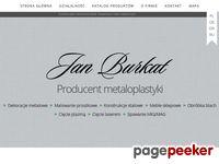 Producent metaloplastyki i kowalstwa artystycznego Jan Burkat