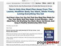 Fat Loss Diet - Fat Burning Foods - Burn the Fat Feed the Muscle By Tom Venuto