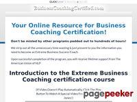 Business Coaching Certified