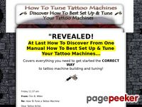 How To Tune a Tattoo Machine-Tune Tattoo Machine-Tattoo Gun Set Up