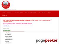 Mobile Number Database India | Mobile Numbers Directory